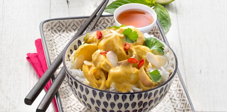 Poulet curry jaune coco