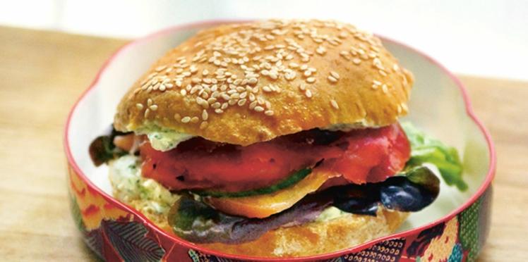 Sandwich au carpaccio de bœuf