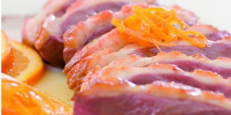 Magret de canard à l'orange