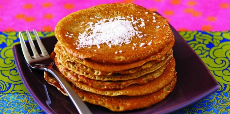 Pancakes au lait de coco