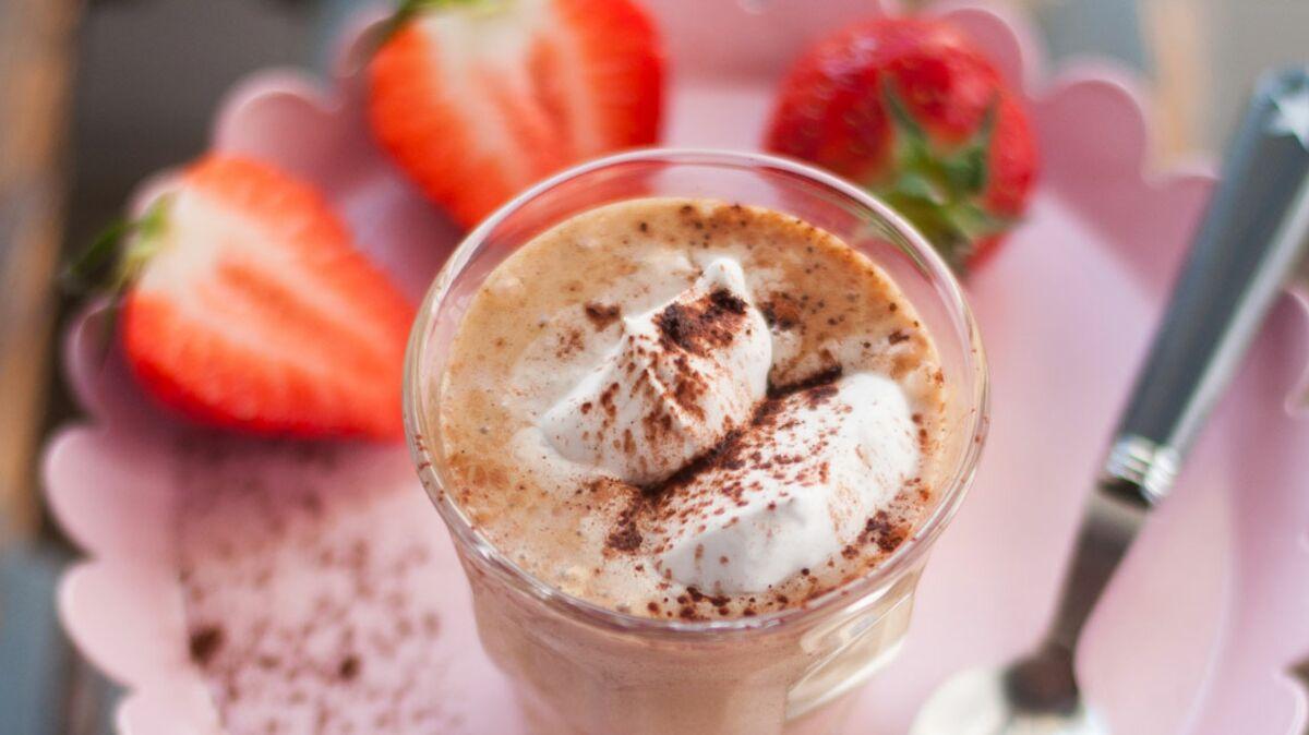 Liégeois végétaliens cappuccino-noisette