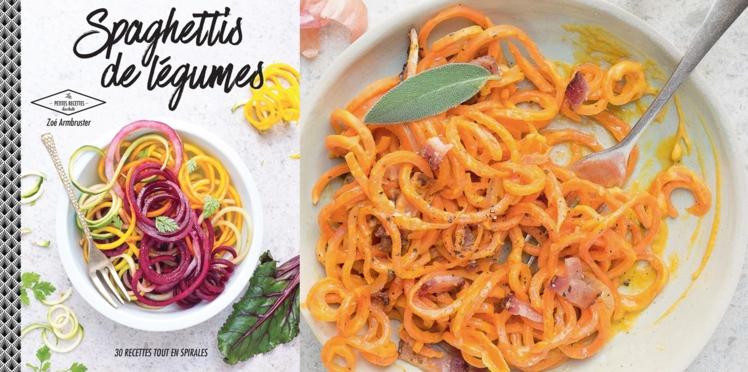 Pâtes de carottes à la sauge et au potiron pancetta