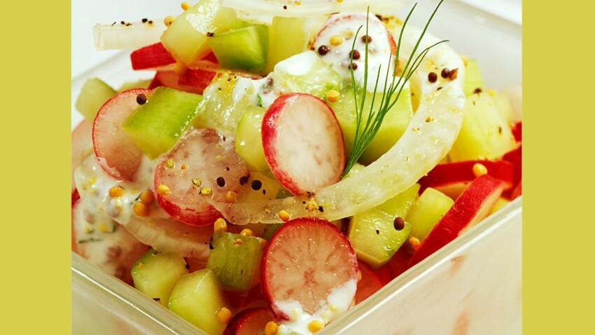 Fenouil au radis et au concombre