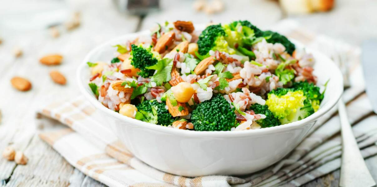 Salade en duo brocoli et bacon