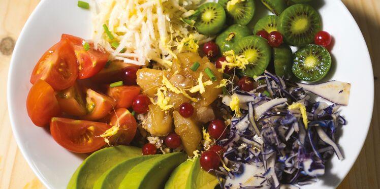 Poke au poisson, légumes et mini-kiwis Nergi
