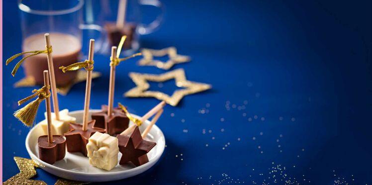 Sucettes de Noël au chocolat