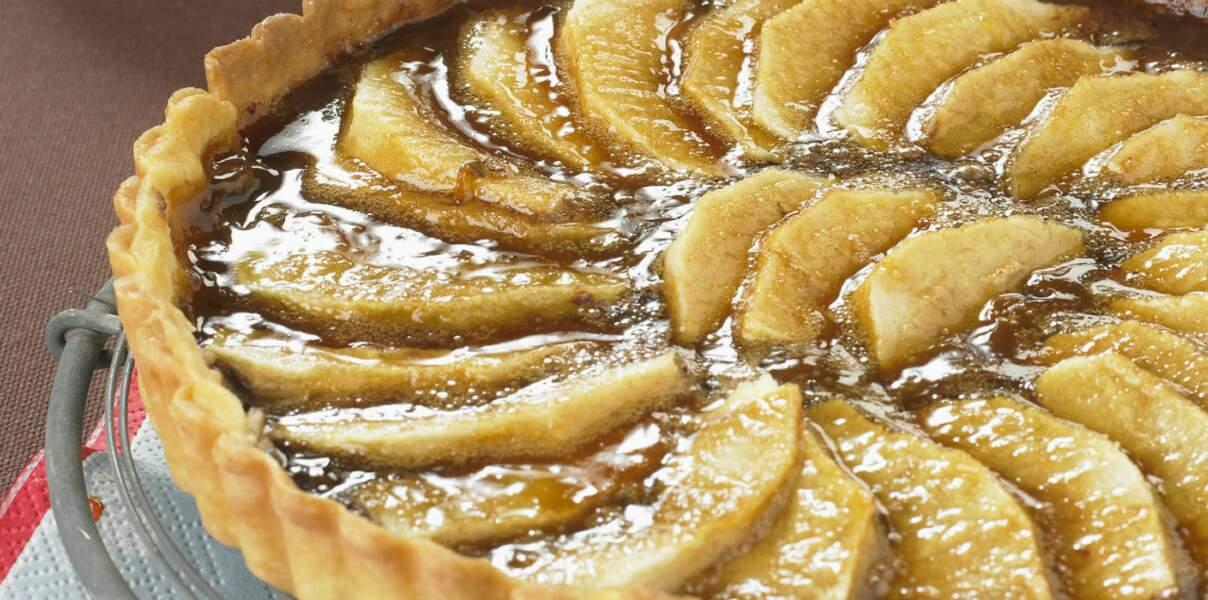 Tarte pommes, bananes et chocolat
