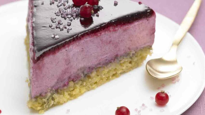 Recette Thermomix : Gâteau royal à la mousse de cassis
