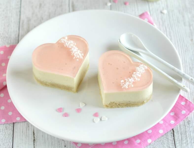Bavarois veggie rose et litchi