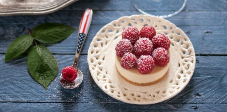 Cheesecakes sans cuisson à la framboise