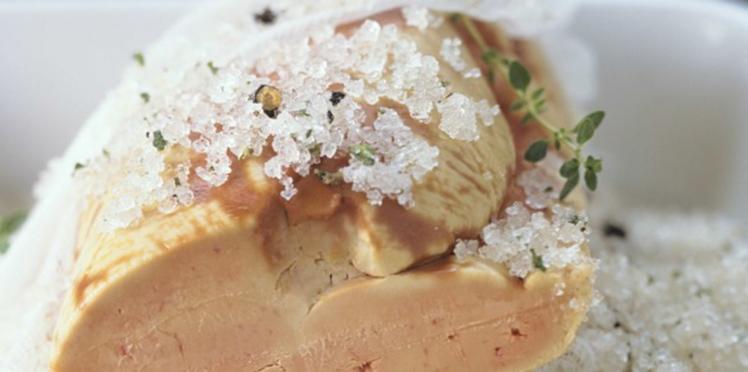 Foie gras au gros sel