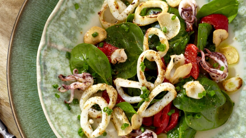Salade de calamars et piquillos