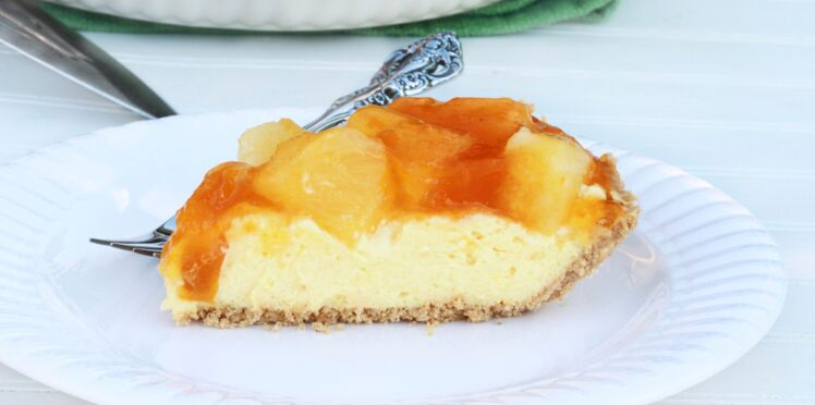 Cheese-cake aux abricots