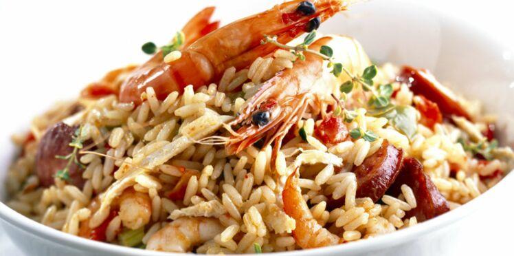 Risotto aux crevettes et chorizo