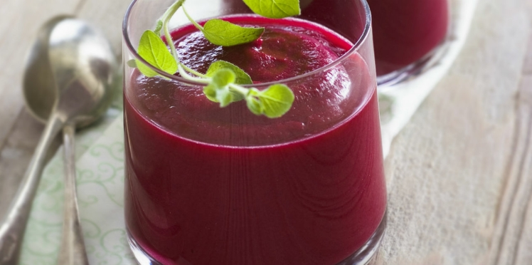 Gaspacho de betterave rouge