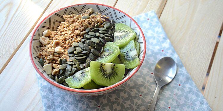L'açaí bowl kiwi graines de courges