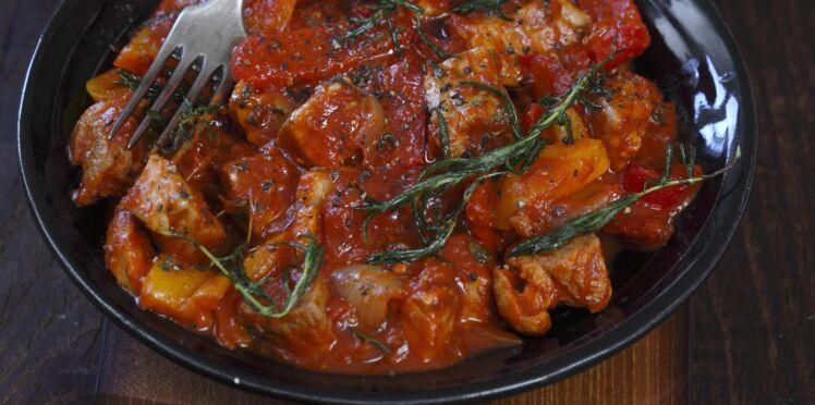 Sauté de porc tomate