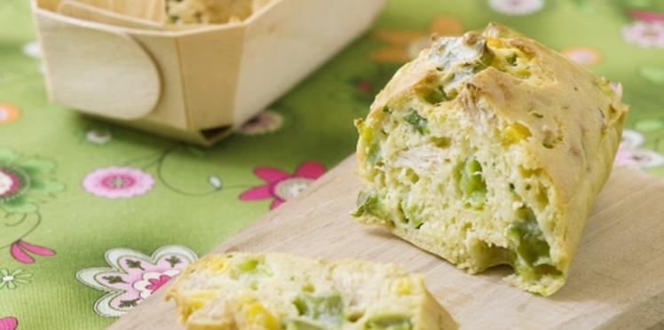 Mini cakes au thon et aux légumes
