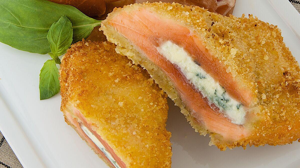Cordon bleu au saumon fumé et roquefort