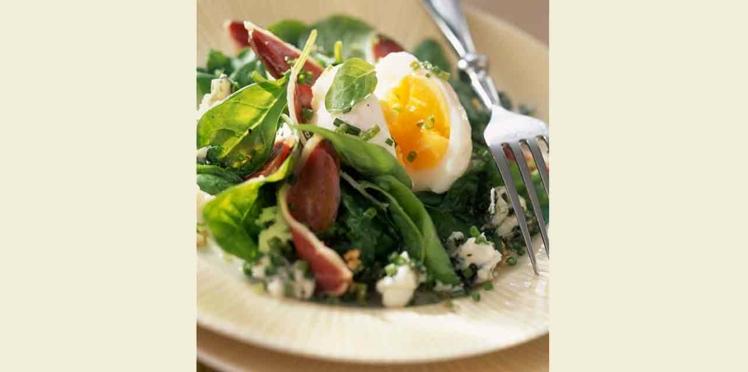 Salade de mâche à l'oeuf mollet