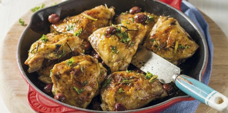 Cuisse de poulet à la poêle
