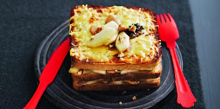 Croque gorgonzola-poire