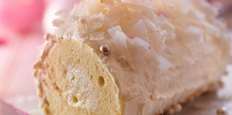 Bûche blanche légère ananas-coco
