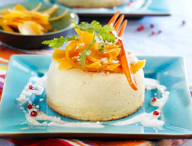 Flans de chou-fleur aux carottes