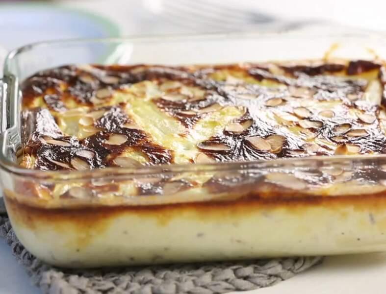 Clafoutis aux asperges, amandes et parmesan