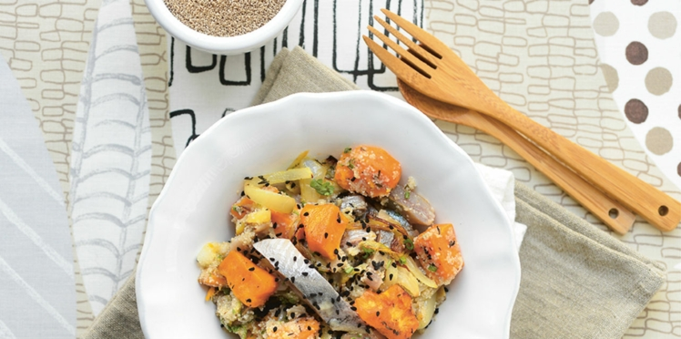 Salade de patates douces au fonio