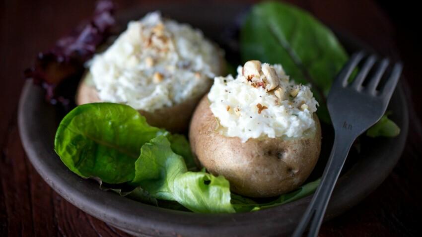 Pommes de terre farcies au fromage frais