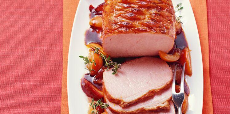 Rôti de porc aux quetsches