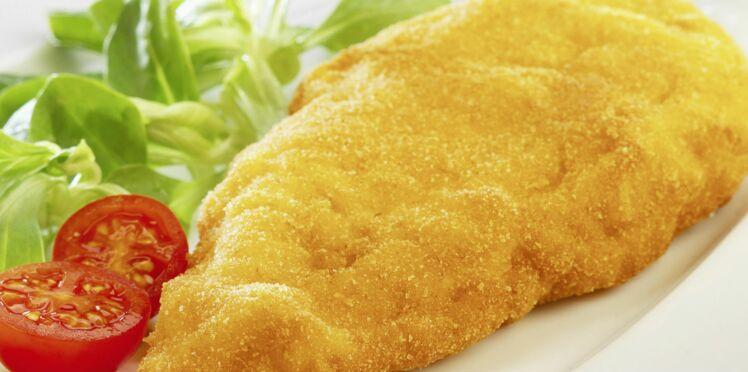 Escalope de poulet panée