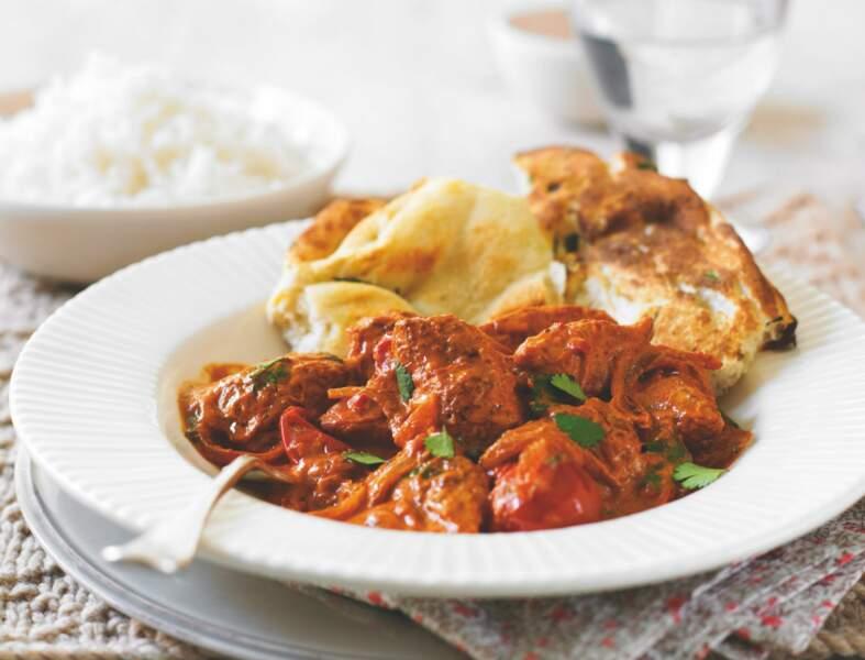 Curry de poulet léger aux épices douces