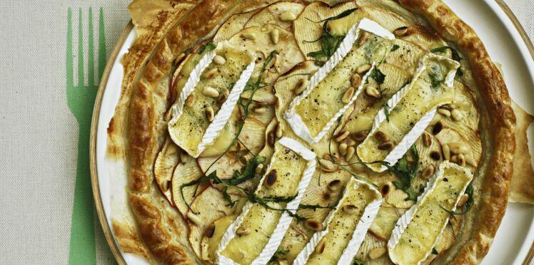 Tarte aux pommes de terre et camembert