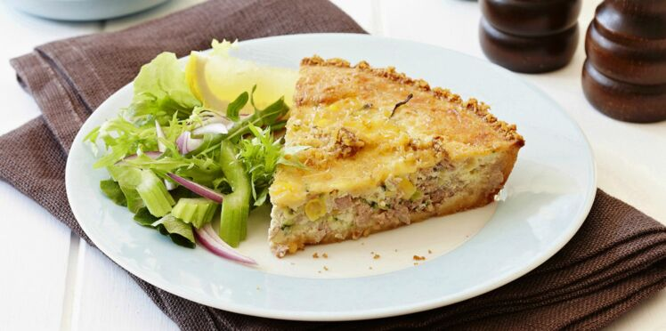 Quiche thon moutarde