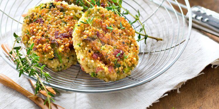 Croquettes faciles quinoa, bacon et brocoli