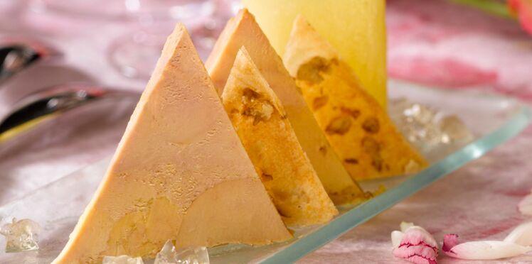 FoieGrasaux noix, gelée de vin jaune et pommes charlotte aux morilles