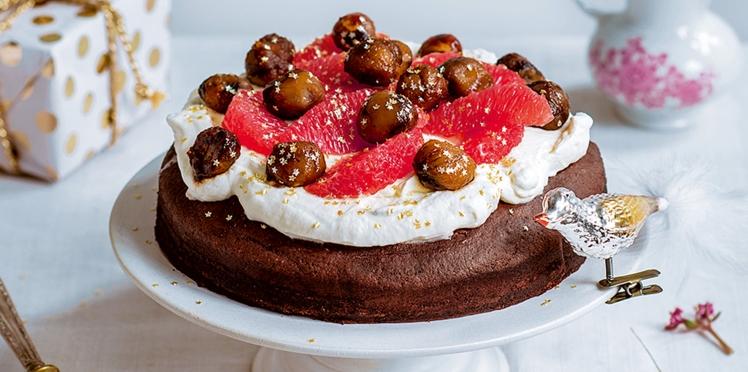 Gâteau vegan au chocolat, coco, marrons