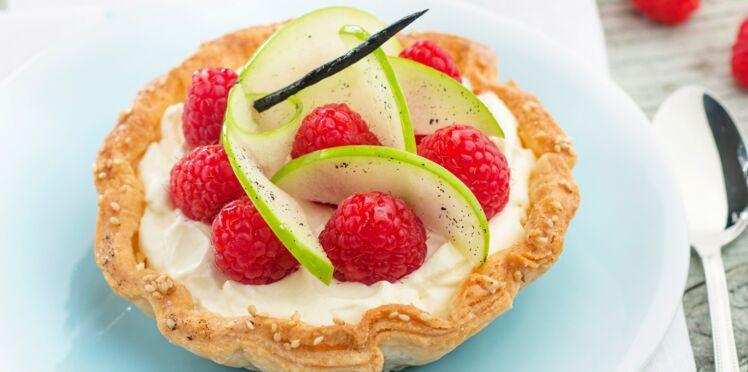 Tartelette framboises et pommes granny