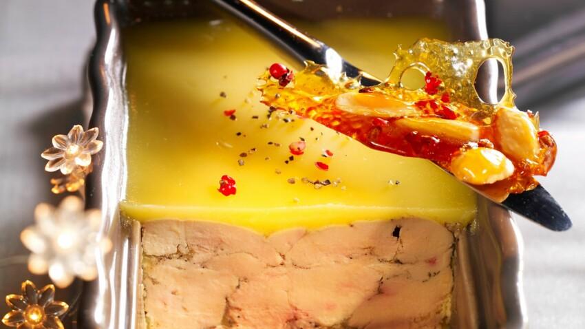 Foie gras de canard aux baies roses