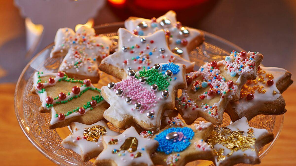 Biscuits de Noël glacés
