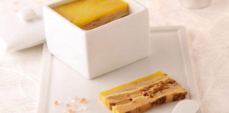 Pressé de l'étivaz et foie gras de canard aux girolles