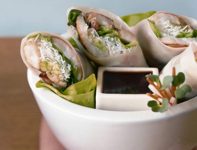Rouleaux de crevettes grillées Teriyaki