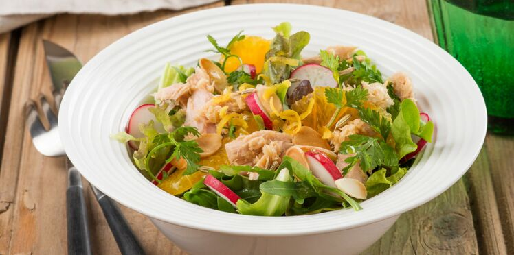 Salade estivale aux miettes de thon