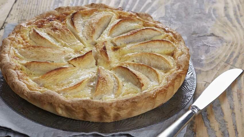 Tarte aux pommes à la Normande au chocolat blanc amande