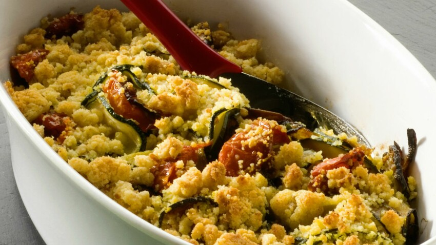 Crumble tomates-courgettes