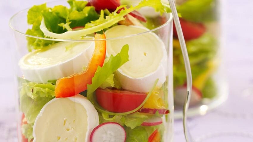 Salade colorée au fromage En Cas de Caprice