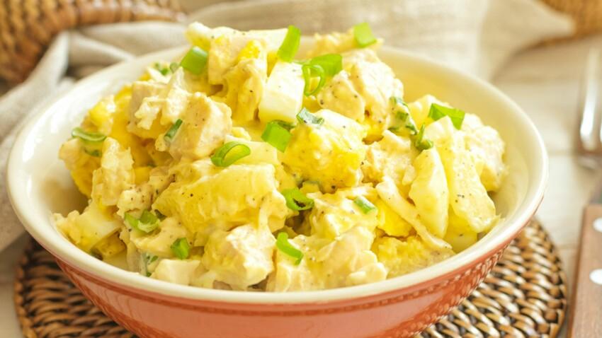 Salade de poulet à la cannelle