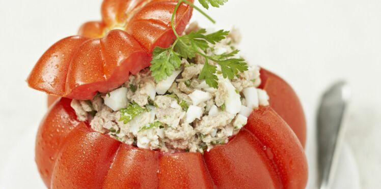 Tomates froides farcies au thon
